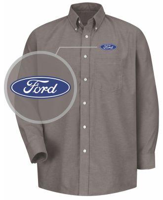 Redkap Men's L/S Service Advisor Ford Automotive Shirt