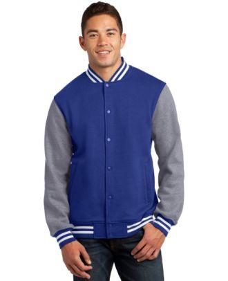 Sport-Tek Men's Fleece Letterman Jacket