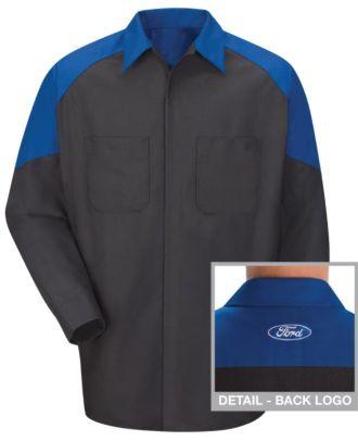 Redkap Men's L/S Technician Ford Automotive Shirt