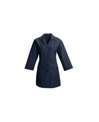 Redkap Women's 3/4 Sleeve  Fitted Smock Housekeeping Coat