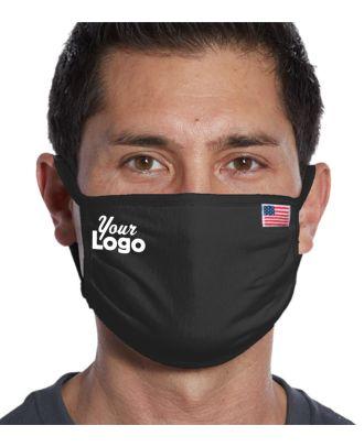 WF Unisex All-American Cotton-Knit (20-units) Custom-Logo Face Mask